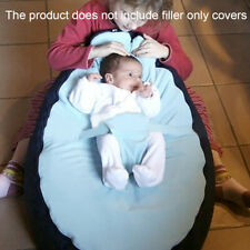 Kids Baby Bean Bag Children Sofa Chair Cover Snuggle Bed Without Filling SALE