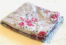 Simply Shabby Chic Purple Berry Rose Quilted Std Pillow Sham Euc Floral Cottage