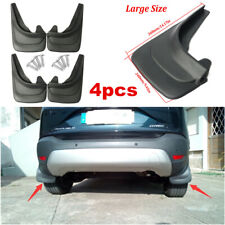 Black Car Truck Universal Molded Splash Guards Mud Flaps Set Of 4 Front & Rear