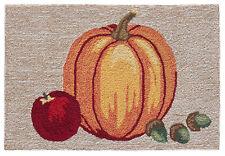 """Rugs - """"Autumn Harvest"""" Indoor Outdoor Rug - 30"""" x 48"""" - Pumpkin - Thanksgiving"""