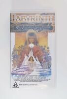 Labyrinth VHS New & Sealed - Jim Henson & Lucasfilm Home Video - Rare Australian