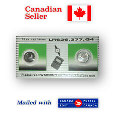 377 NEW! 2-Pack ALKALINE Button Battery - 377A, AG4, L626, SR626SW, CX66W, 626A
