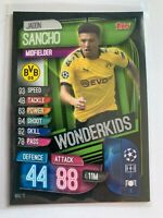 2019-20 Jadon Sancho Wonderkids Topps Match Attax Soccer Card Borussia Dortmund