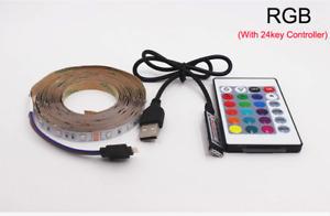 USB LED RGB Strip lamp 2835SMD DC5V Flexible LED light Tape Ribbon 2M HDTV TV