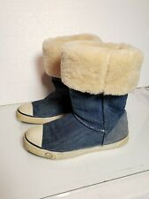 UGG AUSTRALIA 3075 Delaine Blue Denim & Insulated  Sheep Fur Women's  Size 7