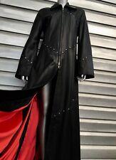 IMPERO London Full Length Black Lambskin Leather Studded Jacket Coat RARE!!