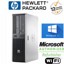 SUPER FAST WINDOWS 10 HP COMPAQ COMPUTER DESKTOP SFF PC 8GB 250GB WIFI + OFFICE