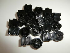 LEGO Basics 20 Round Fluted Building Bricks in Black 2x2 knob-virgin