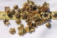 Tibetan Style Bead Caps Mixed Shape,Antique Golden  8~20mm in Diameter 1oz