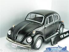 VOLKSWAGEN BEETLE CAR MODEL VW 1:43 SIZE MATT BLACK CARARAMA SALOON 70'S T4Z