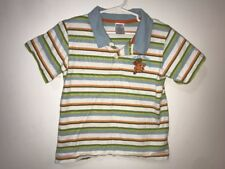 Gymboree Boys 3T Polo Shirt Monkey Business Blue Multi Striped
