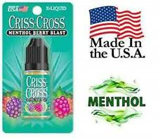 Criss Cross Vape Vapor USA 10ML Menthol Berry Blast 0 mg No Nicotine - $4.99
