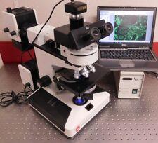 Leica Leitz Diaplan Fluorescence Phase Contrast Trinocular Microscope