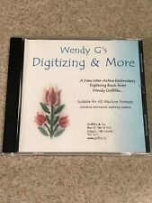 New listing Wendy G's Digitizing & More Cd Inter-Active Embroidery Digitizing Book