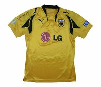 AEK Athens 2007-08 Authentic Home Shirt () M Soccer Jersey