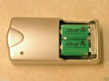4 ULTRAFIRE CR2 RECHARGEABLE BATTERIES + CHARGER 15270