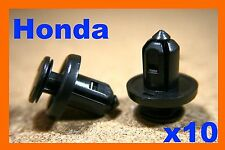 10 Honda civic bumper clips de plástico Sujetadores Tipo Empuje Fender