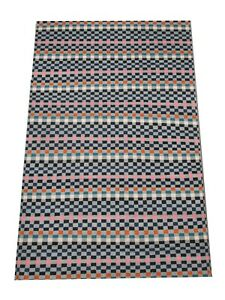 "6X9 Modern Multicolor Checkered Rug Hand-Knotted Wool Carpet (6'1"" x 9')"