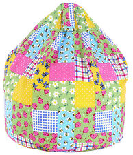 Large Adult / Teen Size Patchwork Ladybird Bean Bag With Beans By Bean Lazy