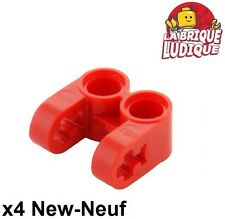 Lego technic - 4x pin connector double split rouge/red 41678 NEUF
