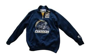 STARTER San Diego Chargers ProLine NFL Pull Over Zip UP Jacket Sz Med Cable Knit