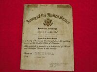VINTAGE WWII MINI DD214 DISCHARGE CARD MICHAEL FRITZ SCRANTON PA US ARMY