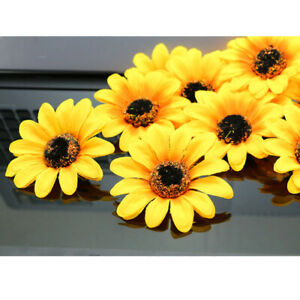 """Artificial Sunflower Silk Flower Heads 3"""" Fake Floral for Home Decor Wholesale"""