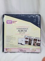 WESTRIM CRAFTS Strap Hinge Album 12x12 Cloth Navy Blue Scrapbook NEW w/pages