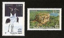 FRANCE 2013 - Timbres de Service UNESCO n° 157 et 158 NEUFS** LUXE MNH