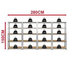 More details for 5 tier shelf 4 bay galvanised heavy duty garage warehouse 175kgs shelves storage