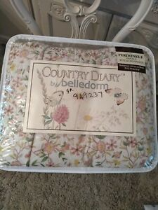 Country Diary Periwinkle Double Bed Quilt And Two Pillowcases NEW