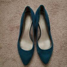 TealGreen Suede Nine West Pumps/Heels/Shoes 7M