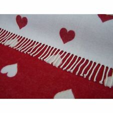 NEW Bronte Abraham Moon Throw / Blanket.  Heart / Red 100% Lambswool. RRP £150!!