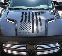 Dodge Ram Hemi 1500 2500 3500 Rebel Mopar Hood Decal Vinyl Flag Stripes Graphic