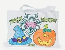 """1 Color Your Own Halloween Trick or Treat bag 10"""" x 7"""""""