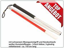 Blindenstock, faltbar, 3-gliedrig Taststock 110 cm lang