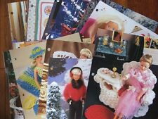 30 Crochet Fashion Doll Patterns GOWNS, FURNITURE, Accessories ~ Mixed Lot
