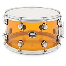 """Natal Arcadia 14"""" x 8"""" Orange Transparent Acrylic Snare Drum"""