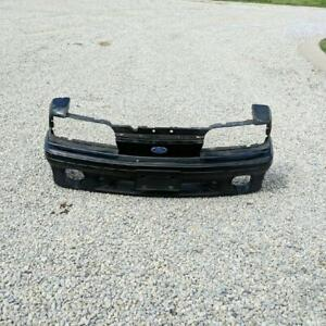 1993 Ford Mustang GT Black OEM Used Front Bumper Cover w Emblem E7ZB-8242-BWE