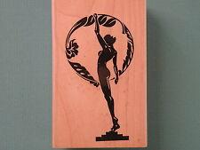 Nude Female Silhouette, Statue 'Femininity' LAS VEGAS ART Rubber Stamp