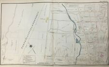 1894 NORTH PLAINFIELD SOMERSET COUNTY NEW JERSEY LELAND-NORWOOD AVE ATLAS MAP