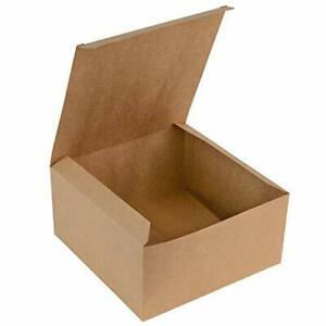 Brown Kraft Gift Box Great for All Occasions Boxes for Gift Cupcake Box Cake Box