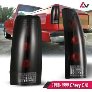 For Chevy C/K 88-99 Black Smoke Altezza Tail Lights Lamp Pair Set Replacement