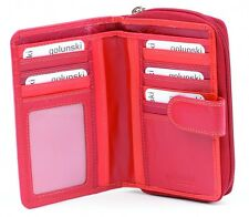 Golunski Leather Wallet & Purse : Made with real leather : Reds