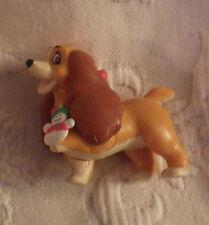 "Lady & The Tramp Lady Dog Christmas Holiday Ornament NO BOX 2 1/2"""