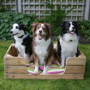 LARGE DOG BED Handmade Upcycled Rustic Wooden Dog Beds - FREE DELIVERY