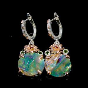 Jewelry Earrings fine art Shell Earrings Silver 925 Sterling   /E54644