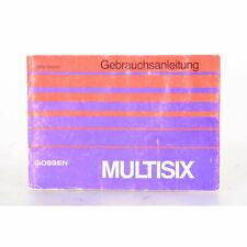 Gossen Multisix Bedienungsanleitung / Gebrauchsanweisung / Anleitung / DEUTSCH