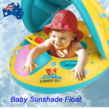 Inflatable Sunshade Baby Kids Child Float Seat Boat Swimming Pool Water Toys