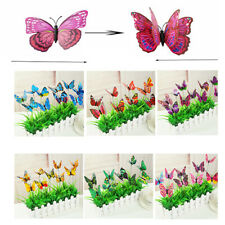 50/30/10Pcs Butterfly Stakes Outdoor Yard Planter Flower Pot Bed Garden Decor
